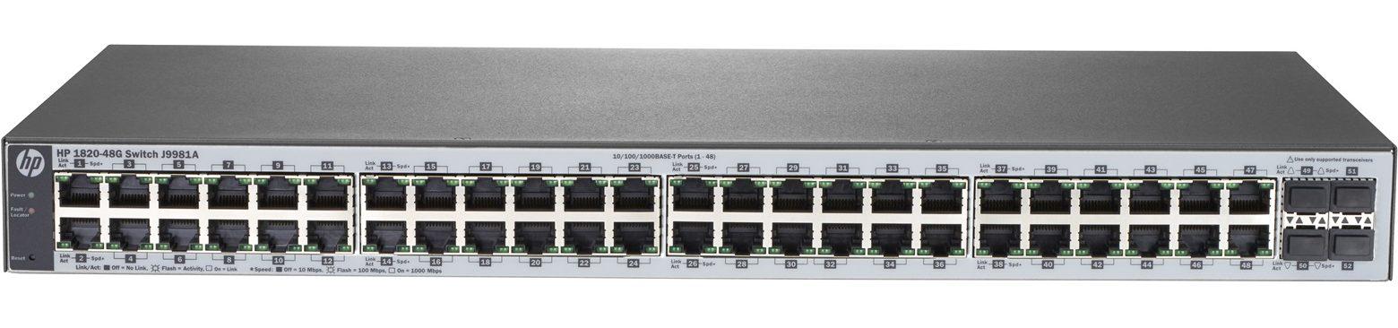Thiết bị mạng/ Switch HP 48P 1820 48G J9981A