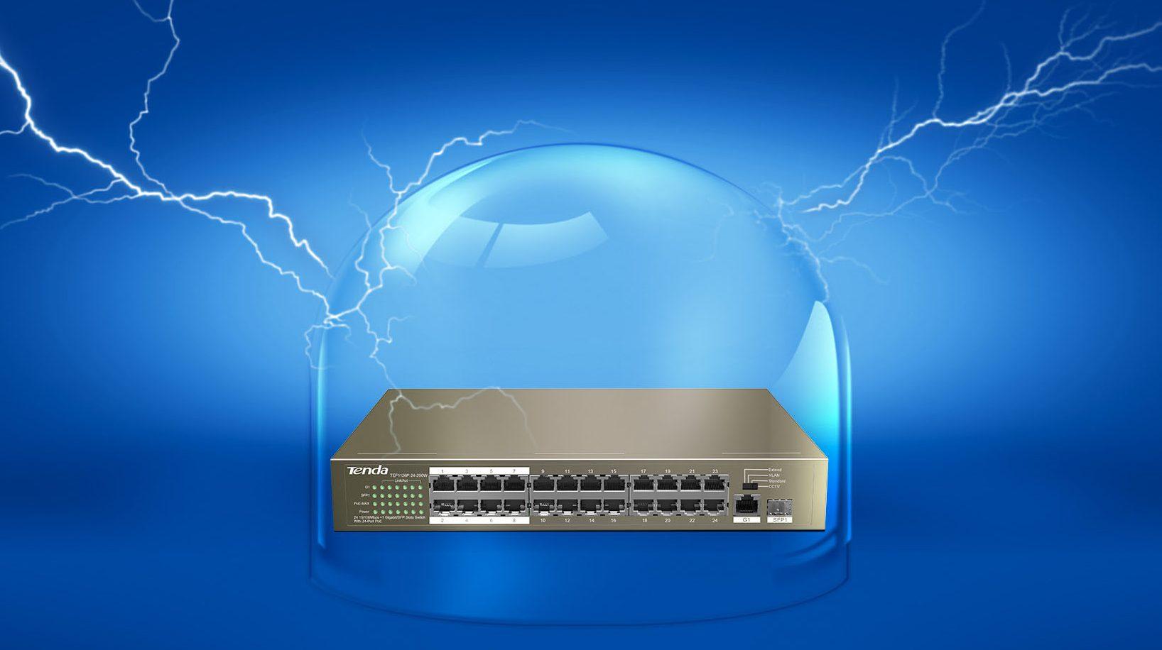 Thiết bị mạng/ Switch PoE Tenda TEF1126P