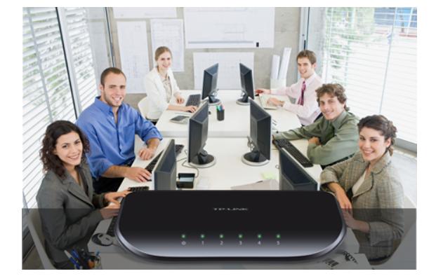 Thiết bị mạng/ Switch TPLink 5P TL SG1005D giải pháp internet cho ngôi nhà và văn phòng của bạn