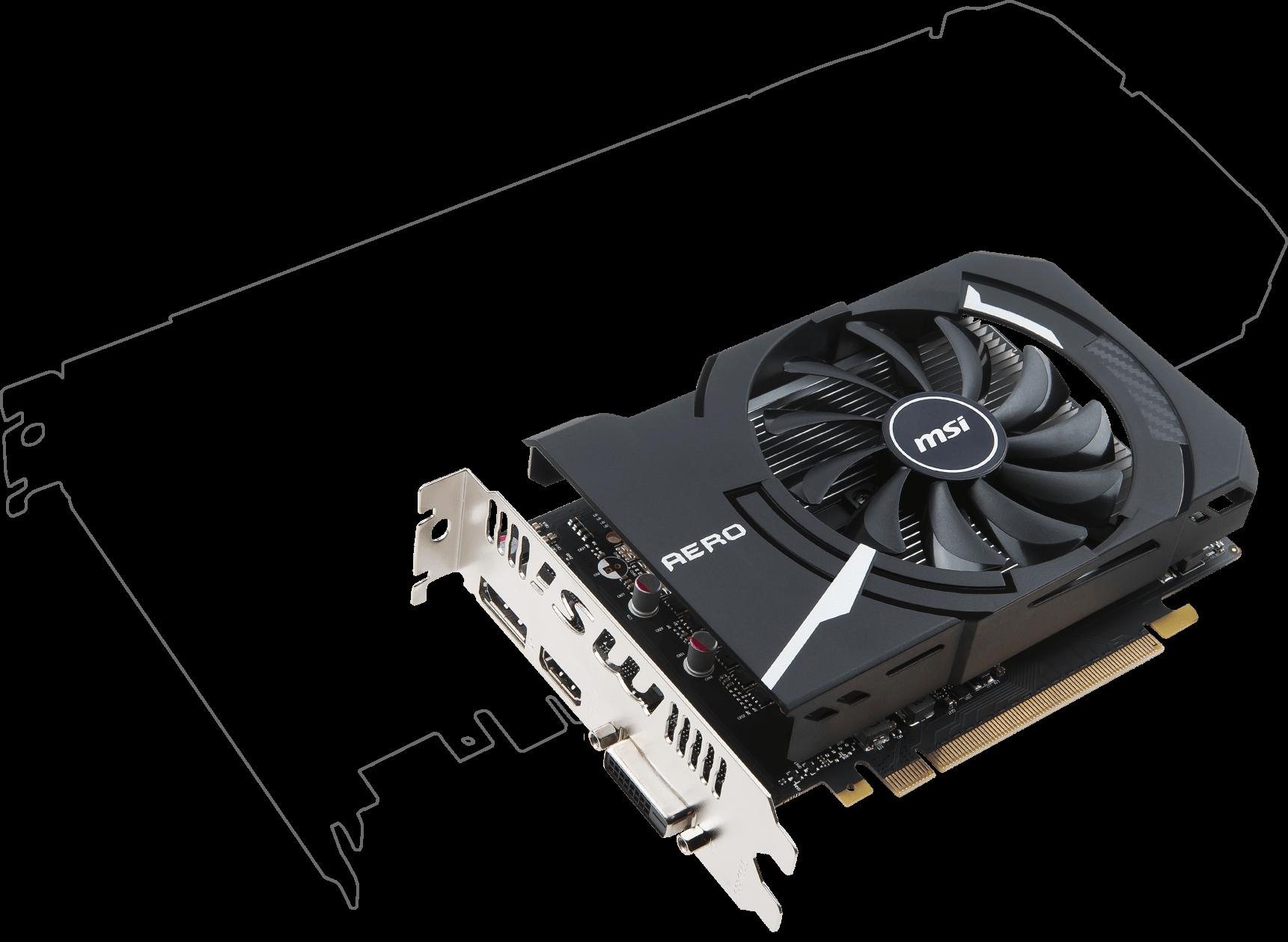 Card màn hình Msi 2GB GTX1050 Aero 2G OCV1 sự mãnh mẽ với một giá thành tiết kiệm.