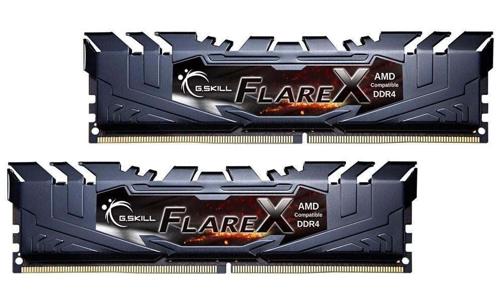 Ram Gskill Flare X 16GB (2*8GB) DDR4/2400 XMP 2.0 Black Heatsink (F4-2400C16D-16GFX) sựa lựa chọn của một hệ thống PC cao cấp.