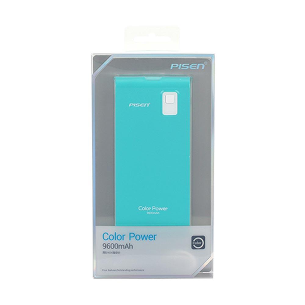 Pin sạc dự phòng Pisen Color Power 9600mAh (Xanh ngọc)