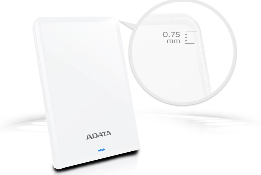 Ổ cứng HDD Adata HV620S 1TB (AHV620S-1TU3-CBK) (Đen) mỏng và nhẹ để mang theo tới bất cứ nơi đâu.