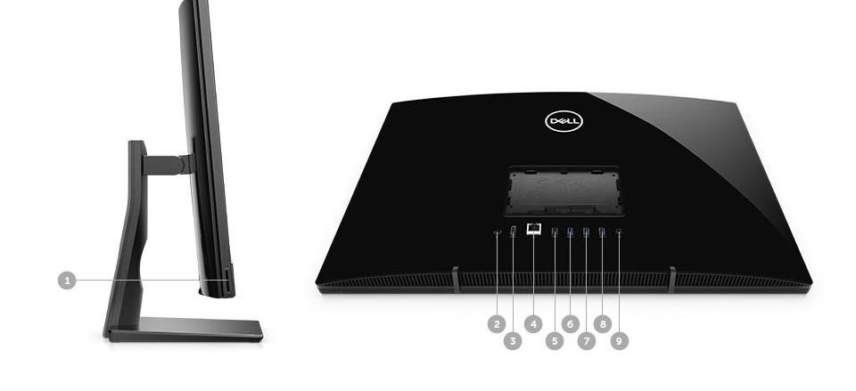 """Máy tính để bàn/ PC Dell AIO Inspiron 3277T (i3 7130/4GB/1TB/Win) 21.5"""" FHD (TNC4R1W) thiết kế nhỏ gọn cho người dùng yêu thích sự linh hoạt."""