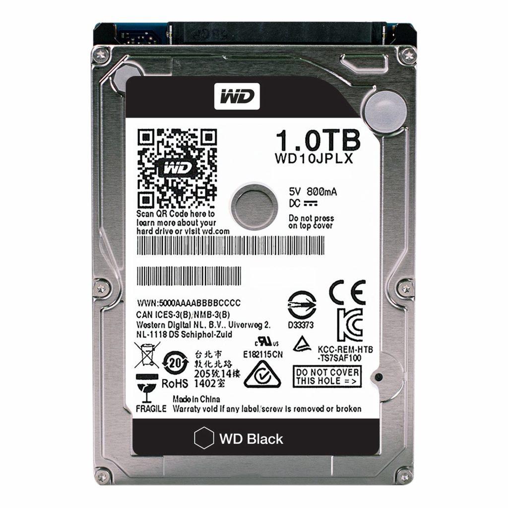"""Ổ cứng HDD WD 1TB 2.5"""" Sata 3 (WD10 JPLX) (Đen)"""