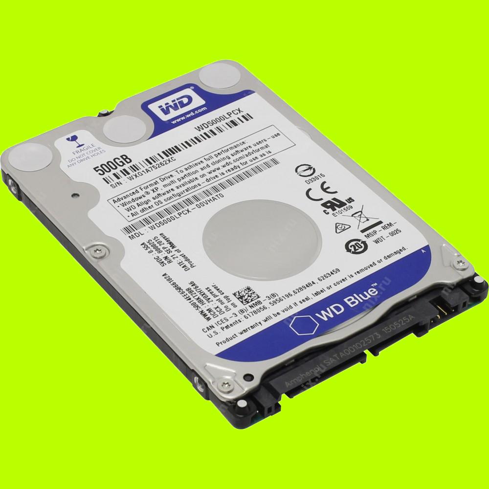 Ổ cứng HDD WD 500GB 2.5inch Sata 3 5400 (WD5000 LPCX) (Xanh)-1