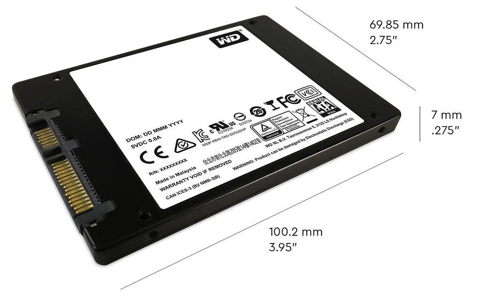 Ổ cứng SSD WD 500GB WDS500G2B0A