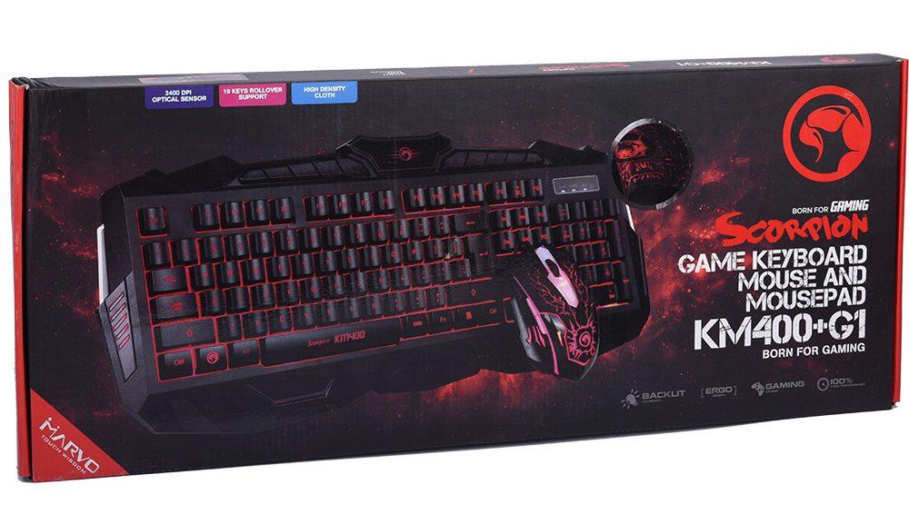 Bàn phím+Chuột máy tính Marvo KM 400
