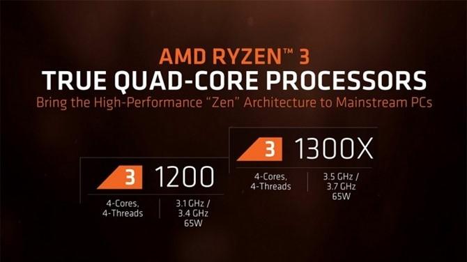 CPU AMD Ryzen 3 1300X (3.5GHz)