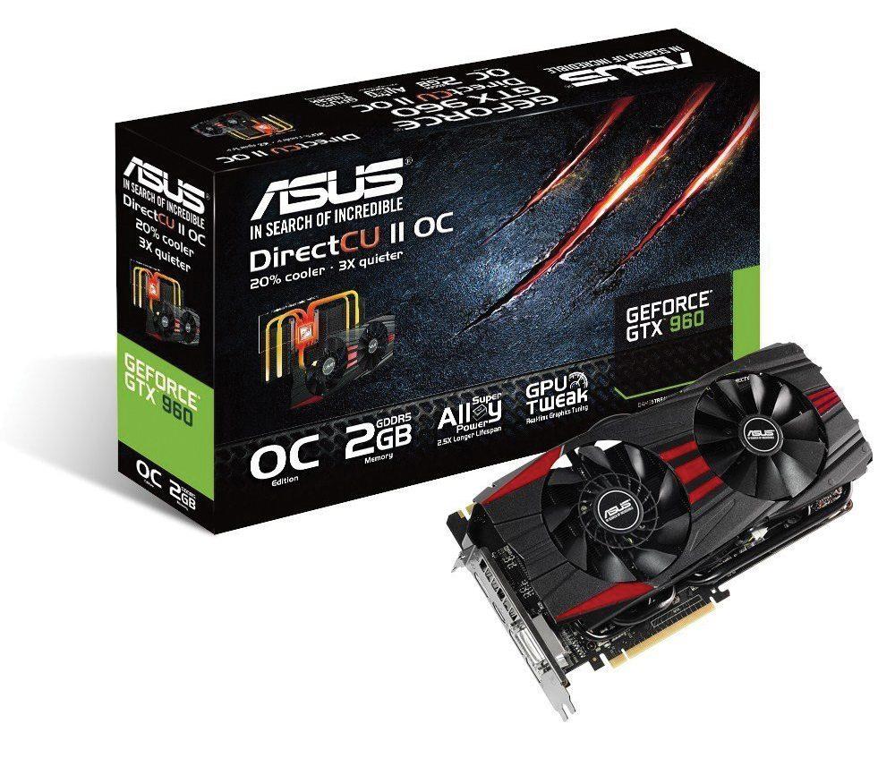 Card màn hình Asus 2GB GTX960-DC2OC-2GD5-Black