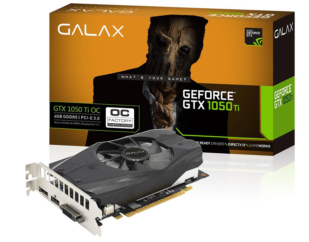 Card màn hình Galax 4GB GTX1050Ti OC