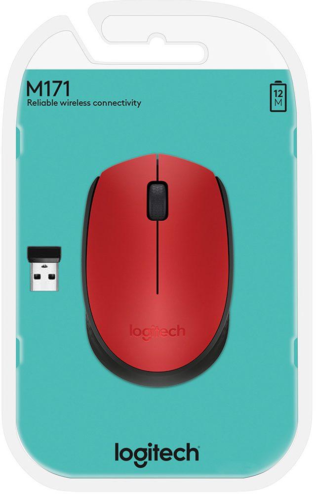 Chuột máy tính Logitech M171 (Đỏ)