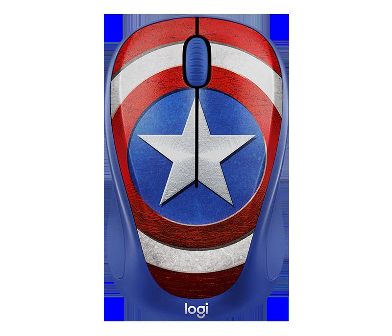 Chuột máy tính Logitech M238 Captain America (Xanh)