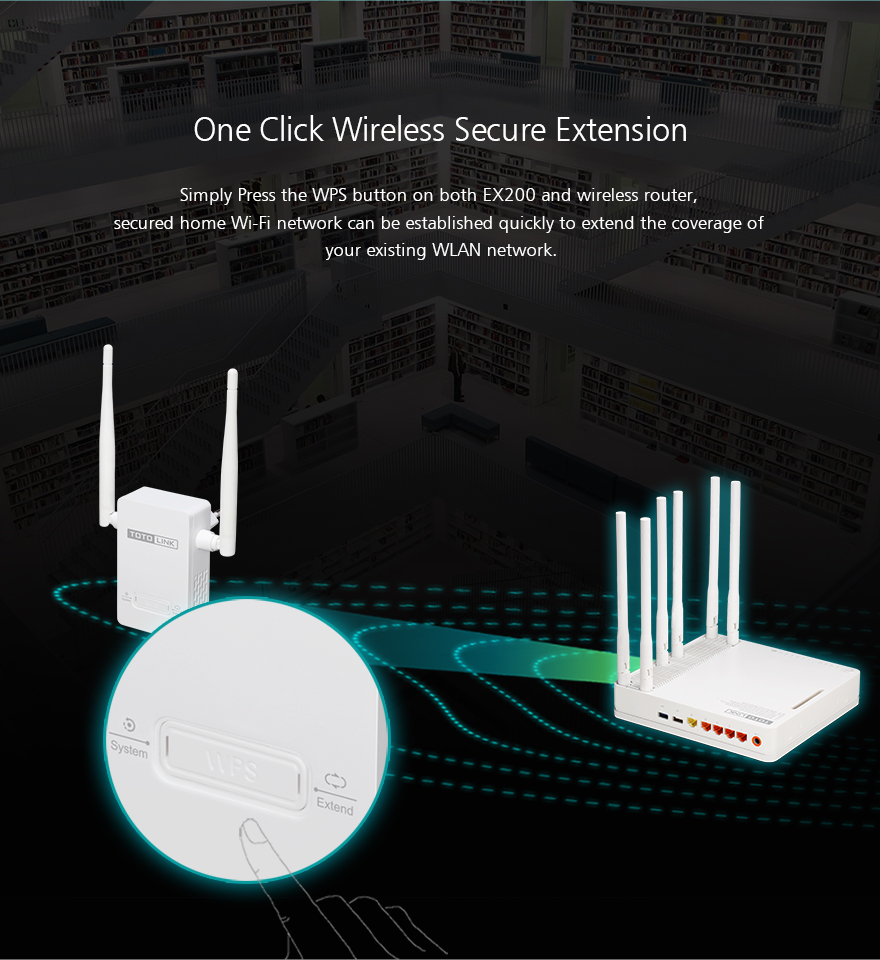 Bộ kích sóng wifi Extender ToToLink EX200 - Phong Vũ