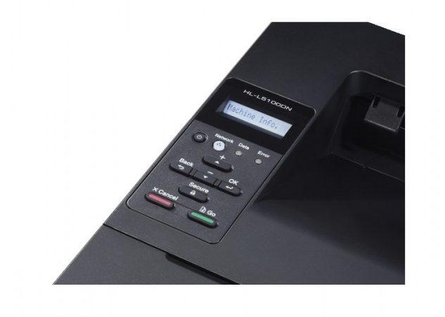 Máy in Brother HL-L5100DN với phím dễ dàng điều khiển