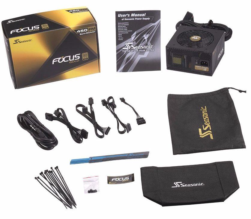 Nguồn/ Power Seasonic 450W Focus FM-450 - 80 Plus Gold