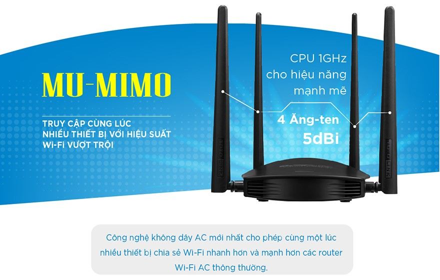 Router ToToLink A800R - Phong Vũ
