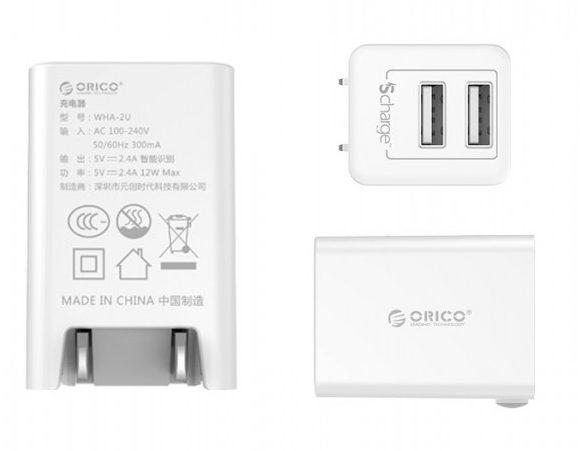 Sạc điện thoại Orico USB 2 cổng 2.4A