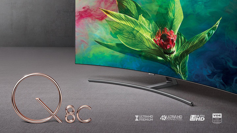 Smart Tivi màn hình cong Samsung 4K QLED 65 inch Q8C 2018