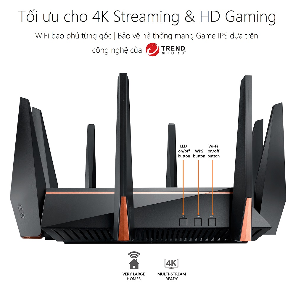 Thiết bị mạng ASUS ROG RAPTURE GT-AC5300 GAMING WIFI ROUTER - coverage - Phong Vũ