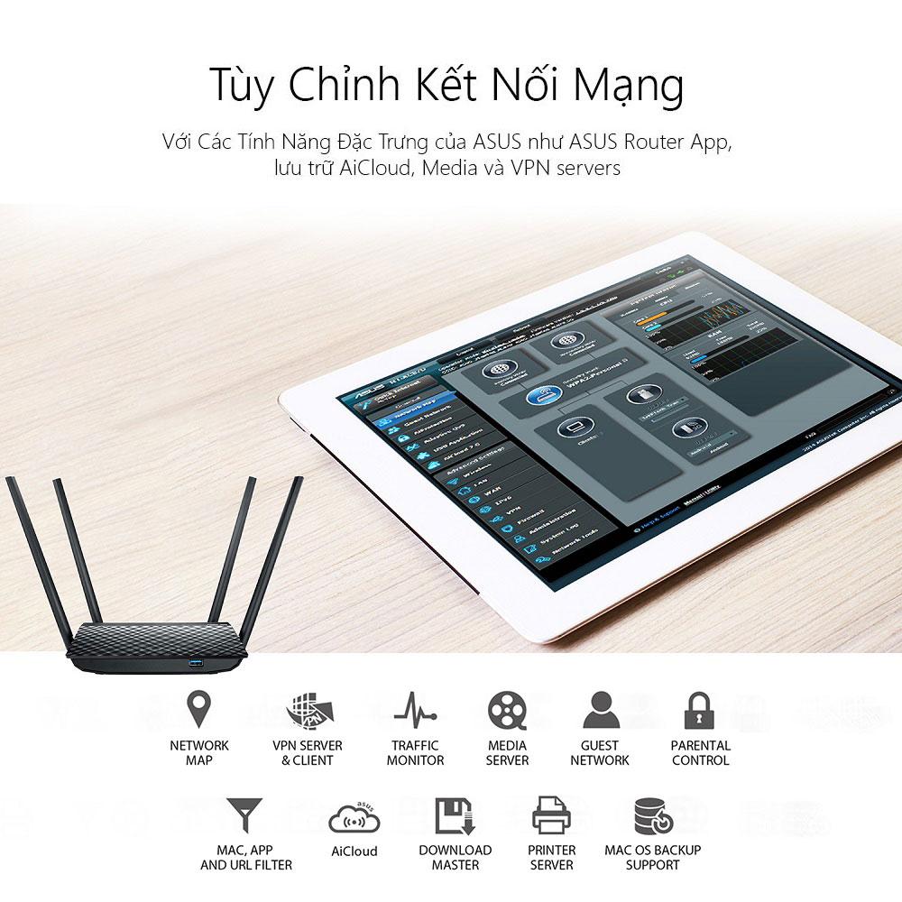 Thiết bị mạng Asus RT-AC1300UHP 1 - Phong Vũ