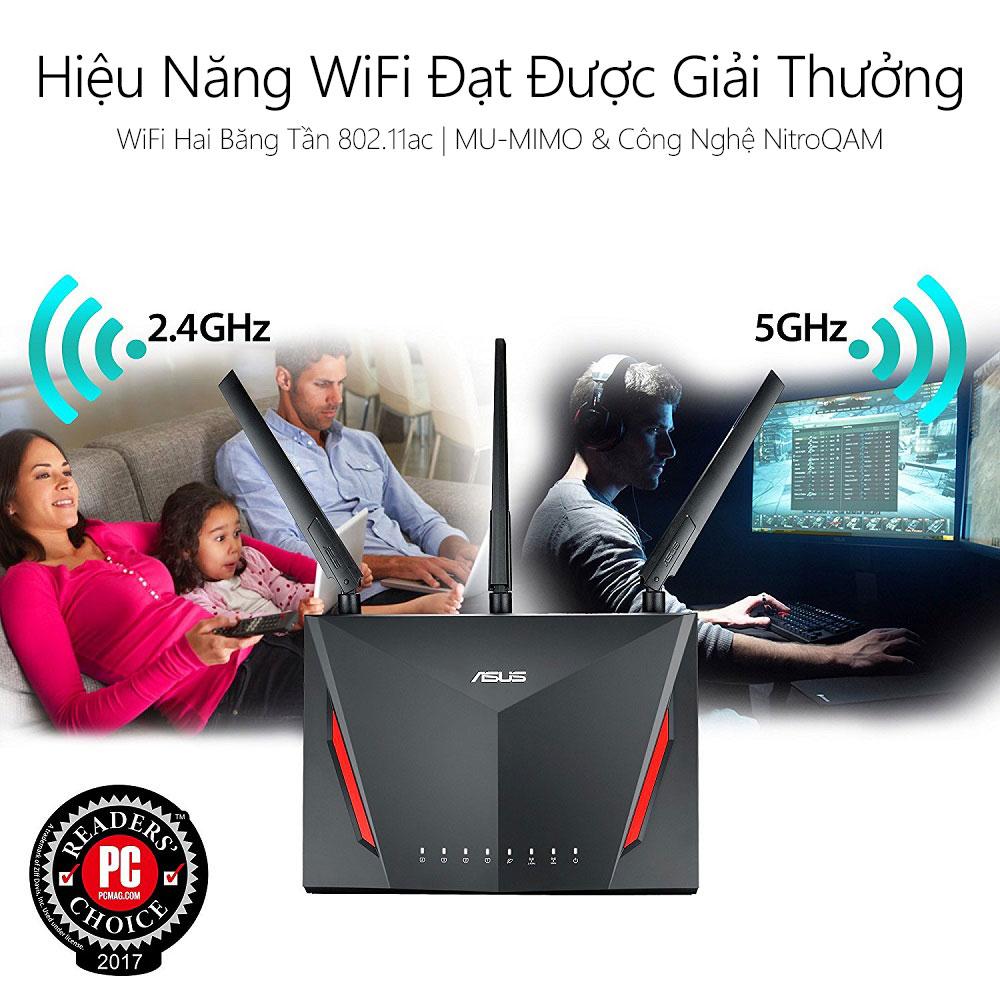 Thiết bị mạng Asus RT-AC86U 2 - Phong Vũ