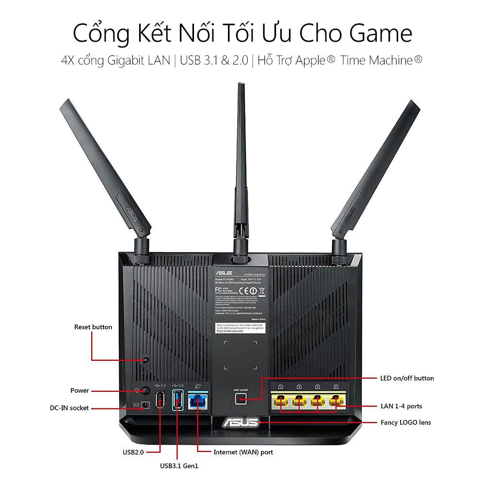 Thiết bị mạng Asus RT-AC86U 3 - Phong Vũ