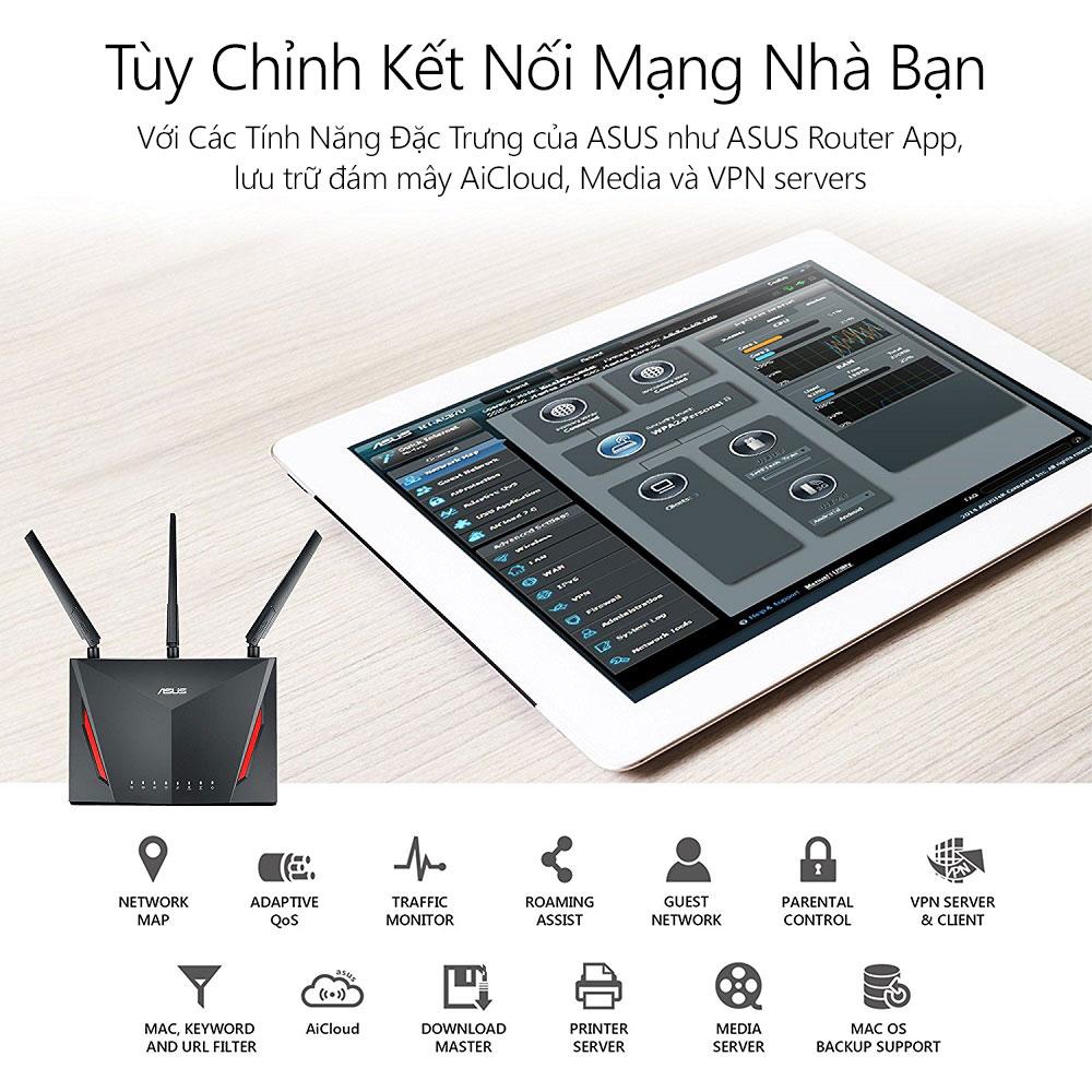 Thiết bị mạng Asus RT-AC86U 5 - Phong Vũ