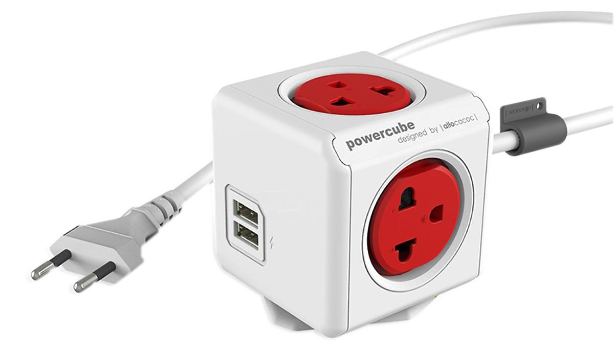 Ổ cắm điện có dây 1.5m Allocacoc -màu đỏ