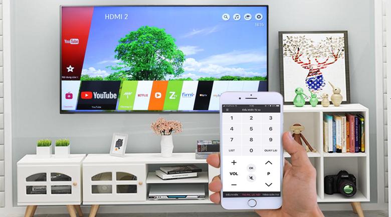 điều khiển tivi lg dễ dàng trên smartphone