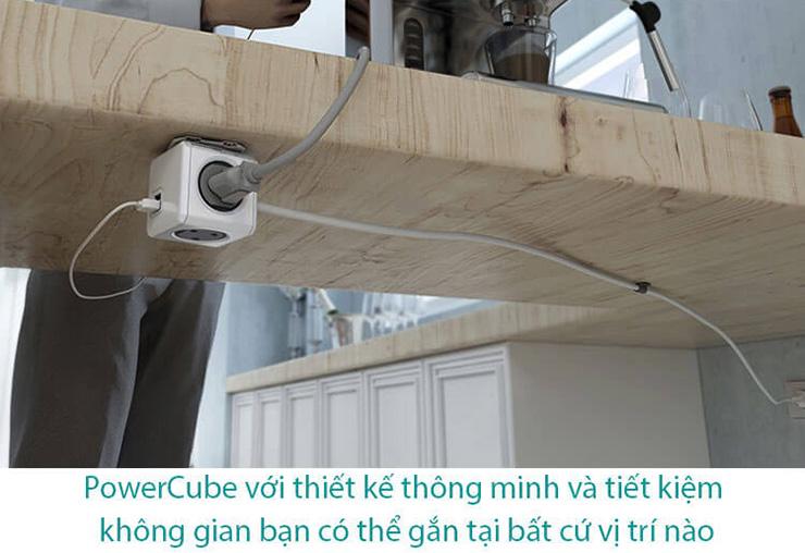 ổ cắm điện có dây 1.5m Allocacoc PowerCube-3