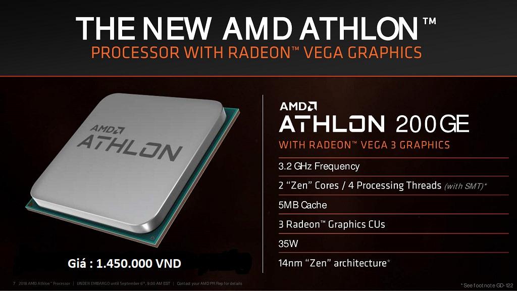 CPUAMD Athlon 200GE