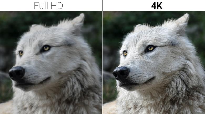 độ phân giải UHD 4K đem tới hình ảnh vô cùng sắc nét