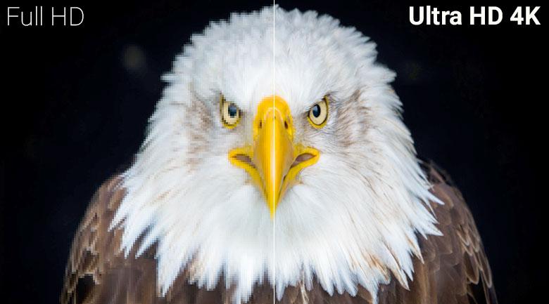 phân giải UHD 4K nét gấp 4 lần Full HD mang lại hình ảnh sắc nét tới từng chi tiết