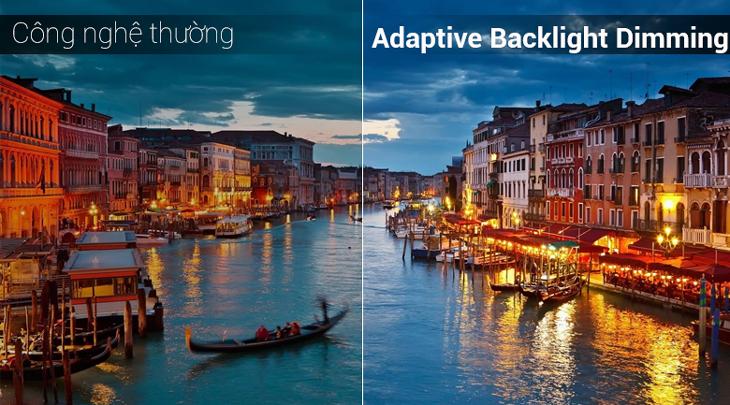 Adaptive Backlight Dimming đem tới độ tương phản rõ rệt, độ nét cao