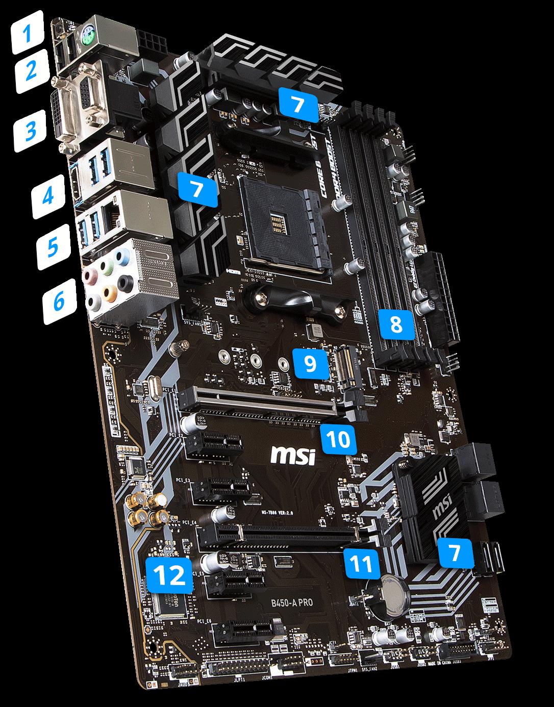 Bo mạch chủ Mainboard MSI B450 A-PRO