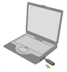 Cắm bộ chuyển đổi vào máy tính của bạn