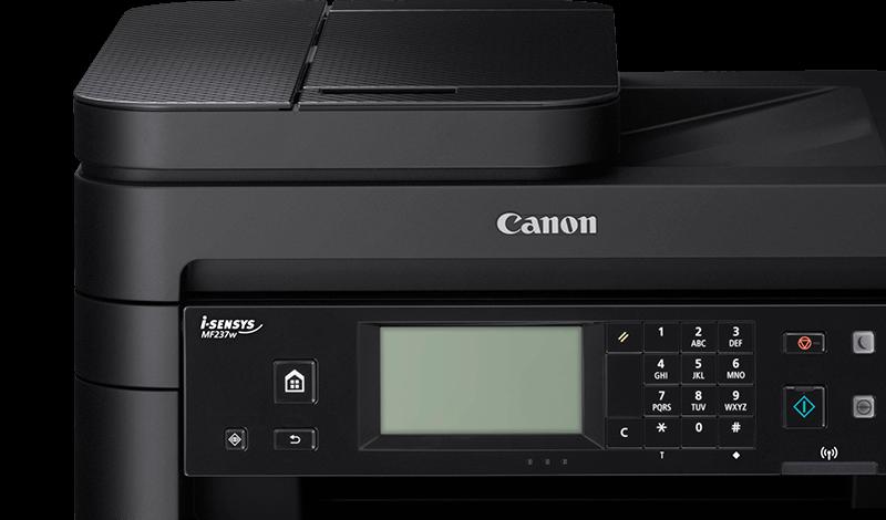 màn hình Canon MF237w dễ dàng cho việc vận hành