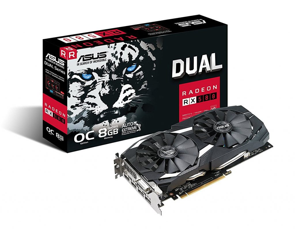 Card đồ hoạ AMD Asus Dual 8GB Dual Radeon RX580 O8G