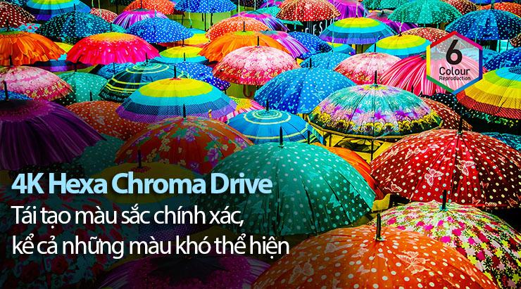Hexa chroma drive đem tới hình ảnh  màu sắc rực rỡ, chân thực