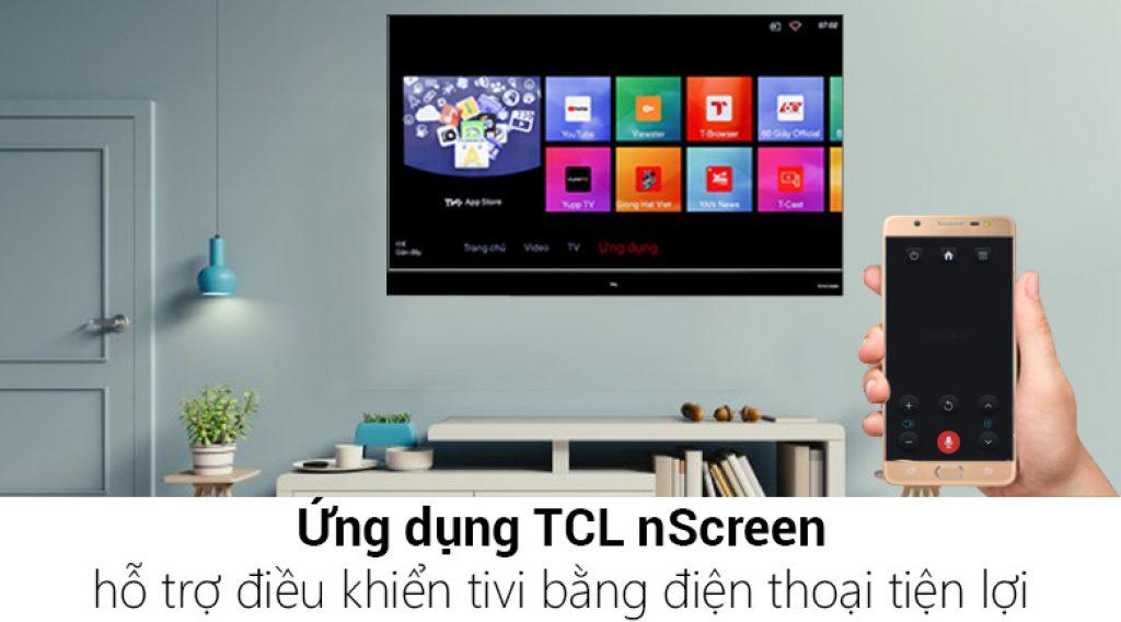 Tivi TCL 40S6500 dễ dàng điều khiển tivi bằng điện thoại