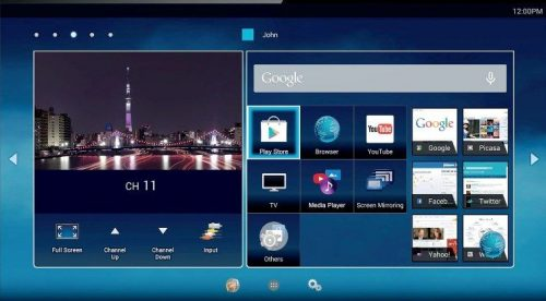 Hệ điều hành tivi toshiba dễ sử dụng với kho ứng dụng phong phú đa dạng