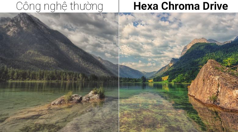 công nghệ hình ảnh Hexa Chroma Driver đem tới màu sắc sinh động, rực rỡ