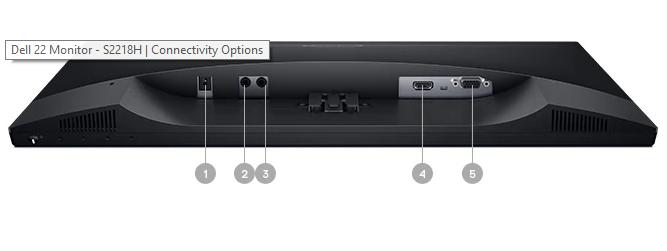 """màn hình LCD Dell 21,5"""" S2218H"""
