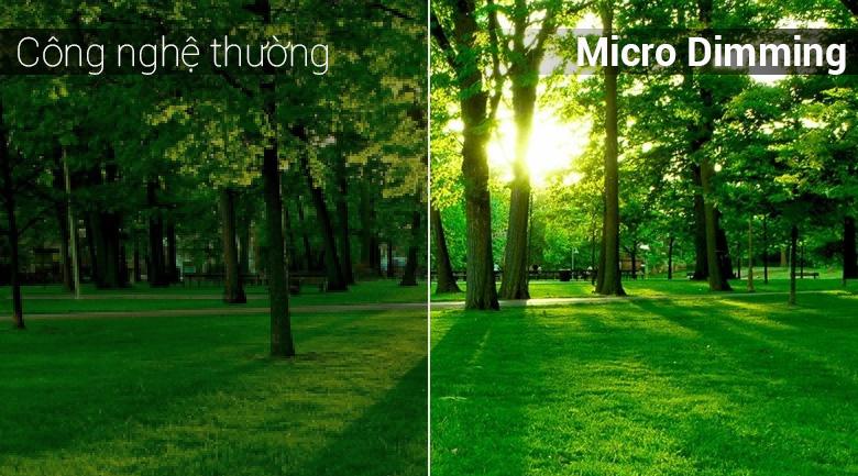 công nghệ micro dimming đem tới màu sắc trung thực, rực rỡ