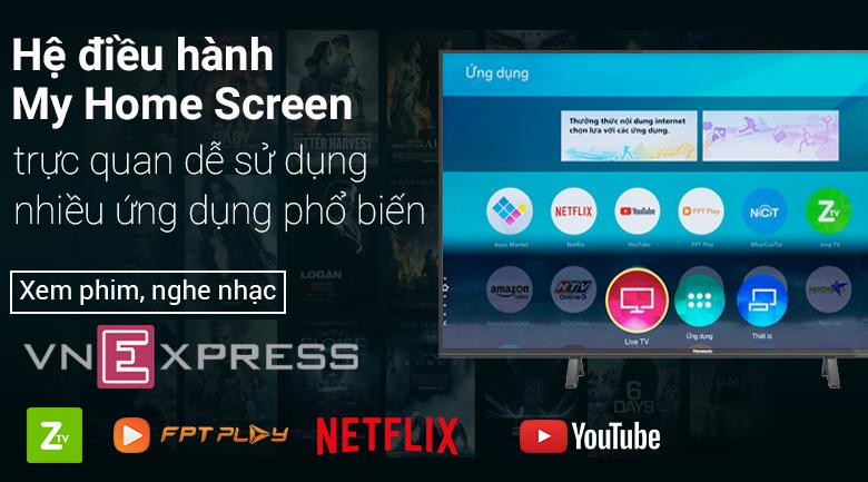 my home screen dễ dàng sử dụng với kho ứng dụng đa dạng đặc sắc