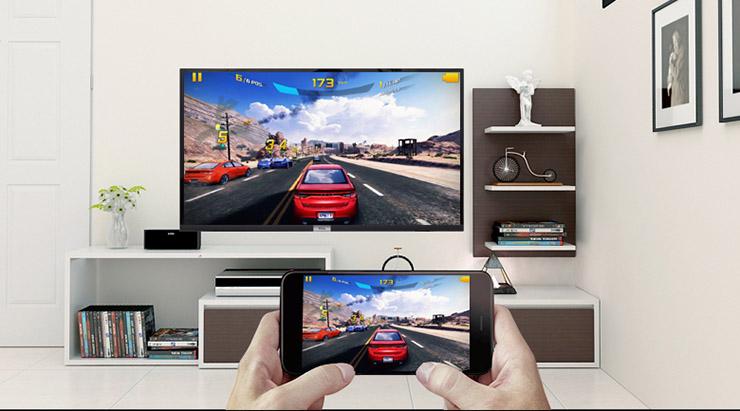 tivi L43S6500 dễ dàng chiếu từ điện thoại lên màn hình tivi