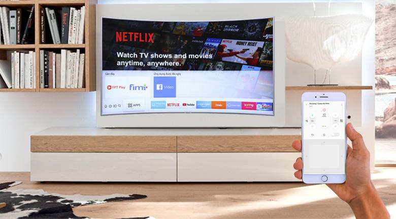 Điều khiển tivi bằng smartphone qua ứng dụng Samsung SmartThings