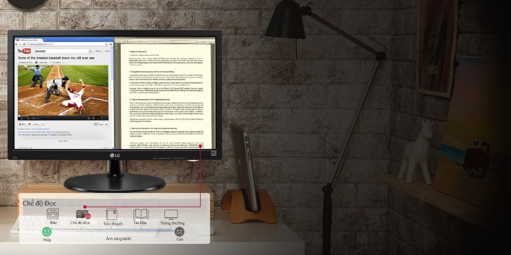 Màn hình LCD LG 19.5 inches 20M39H-B.ATV Bảo vệ mắt