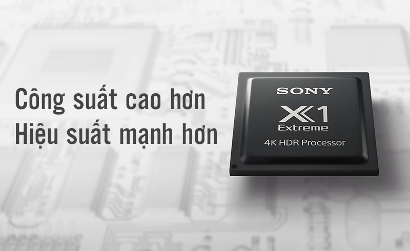 4K HDR Processor X1™ công suất cao, mang đến vè đẹp hoàn mỹ cho hình ảnh